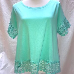 NWT a.n.a. Top w/beautiful Trim - FINAL Markdown